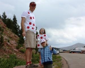 Erin, Grace & myself atop Vail Pass